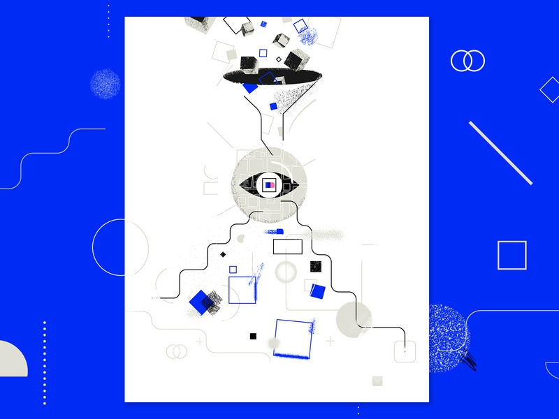 Interpretable AI abstract geometric identify bias technical editorial report ai photoshop texture tooploox illustration