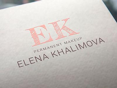 Permanent makeup Logo artist typography typo makeup permanent logo brand
