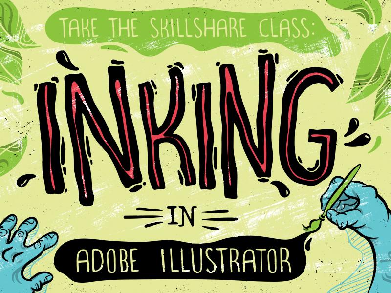Inking In Adobe Illustrator by Melissa de Nobrega on Dribbble