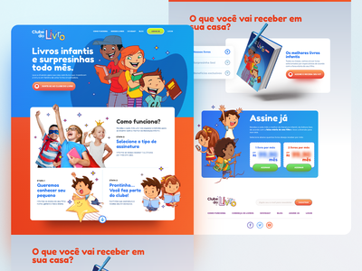 Clube do Livro | Sale of children's book subscriptions design layout product ui  ux uidesign ui design uiux ui ux  ui uxui uxdesign ux design ux landing design landing page design landingpage landing page landing