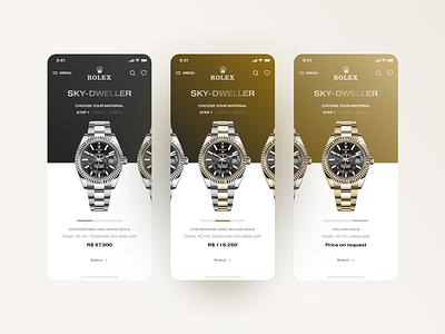 Rolex | Choice of model ecommerce app ecommerce app design app product design productdesign product page products product ui  ux uidesign ui design uiux ui ux  ui uxdesign ux design uxui ux rolex