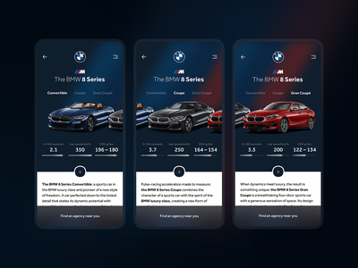 The BMW 8 Series | Choice your model product uiux uidesign uxdesign selector select car app car application app design app mobile design mobile app design mobile ui mobile app mobile bmw