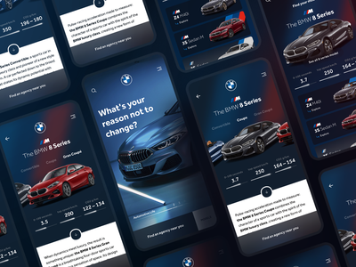 The BMW 8 Series | Choice your model uidesign uxdesign product app product page product figma design figmadesign figma mobile app design mobile design mobile app mobile ui mobile application app design app car app car bmw