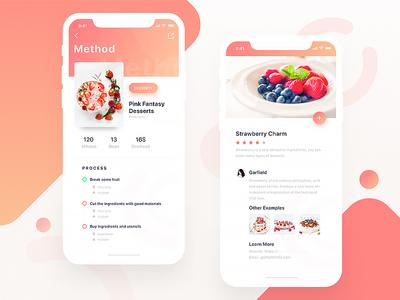Food Community02 food desserts orange iphonex ux ue ui app