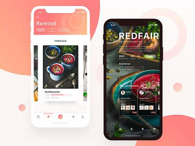 Food Community03 youth round card food desserts orange iphonex ux ue ui app