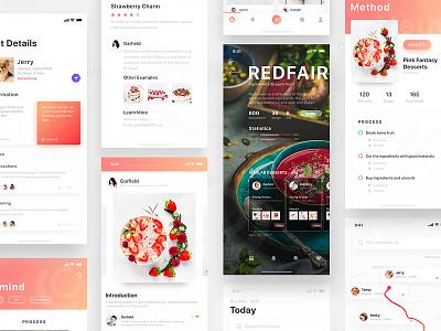 Food App iphonex color ios11 ui food