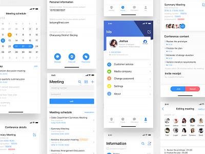 Meeting App blue ux ue app meeting iphonex ios11 ui