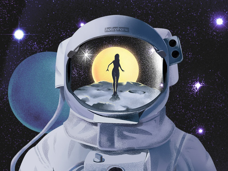 Spaceship Music Cover by Ameer Magdy on Dribbble