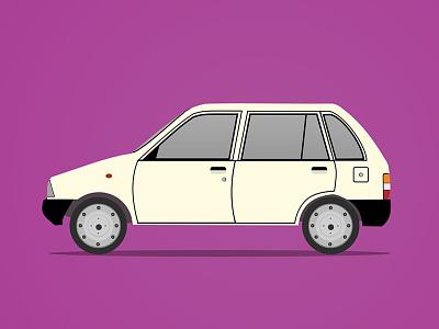 Manual Transmission illustration car maruti 800