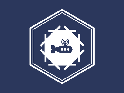 RoboSub Logo hexagon autonomous submarine logo