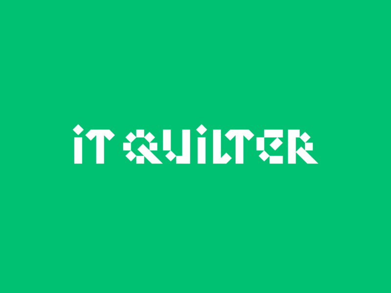 IT Quilter brand logotypedesign typography design logo branding