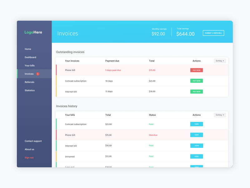 Portal Dashboard Design By Jimmy Leslie On Dribbble