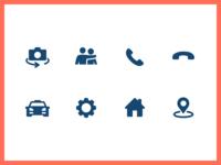 Elderly Assisance App Iconography