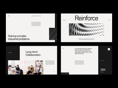 Layout & Type Exploration modern type minimal studio clean light typography collaboration web design pattern grid dark black layout