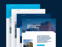 Header System | Zeamarine web landing page website ui color layout editorial blue hero header web design