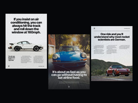 Porsche Print Ads german swiss editorial headlines copywriting bold retro graphic  design layout classic vintage typogaphy cars