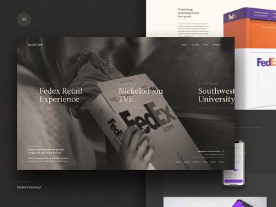 Handsome.is Redesign - Coming Soon website redesign fedex navigation handsome case study web design agency portfolio