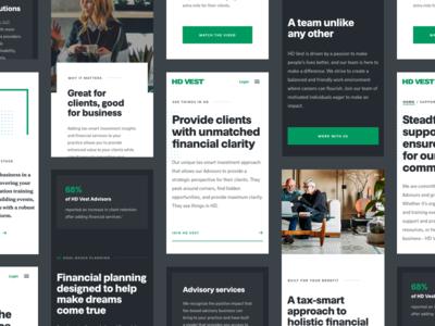 HD Vest® | Mobile Web ui website responsive green finance tax money web mobile