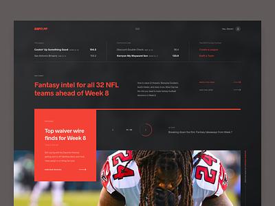 ESPN Fantasy Football | Exploration ui web design app web layout grid news football fantasy football fantasy sports espn