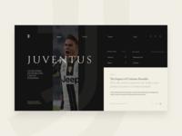 Juventus | Landing Page Concept