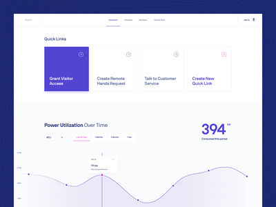 Design Direction | Data & Infrastructure chart grid cards database tabs tooltip purple dashboad data visualization graph data
