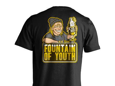 MIDS Apparel - Fountain of Youth merchandise logo logos product apparel design art vector illustrator illustration