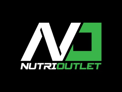 Nutri Outlet Logo fitness athletic lettering custom typography type design graphic identity logos branding logo