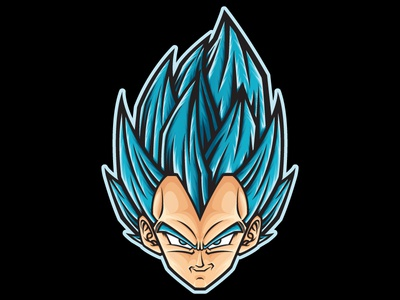 Vegeta super saiyan blue sticker