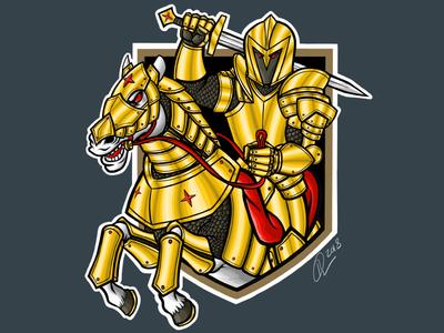 Vegas Golden Knight Illustration