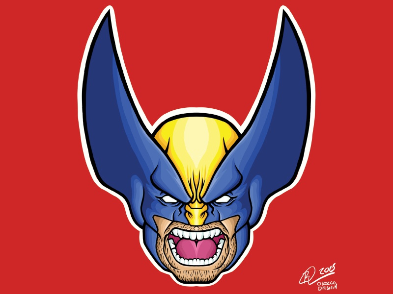 Marvel-Wolverine merchandise art illustrator illustration marvel comics tshirts apparel stickers wolverine marvel