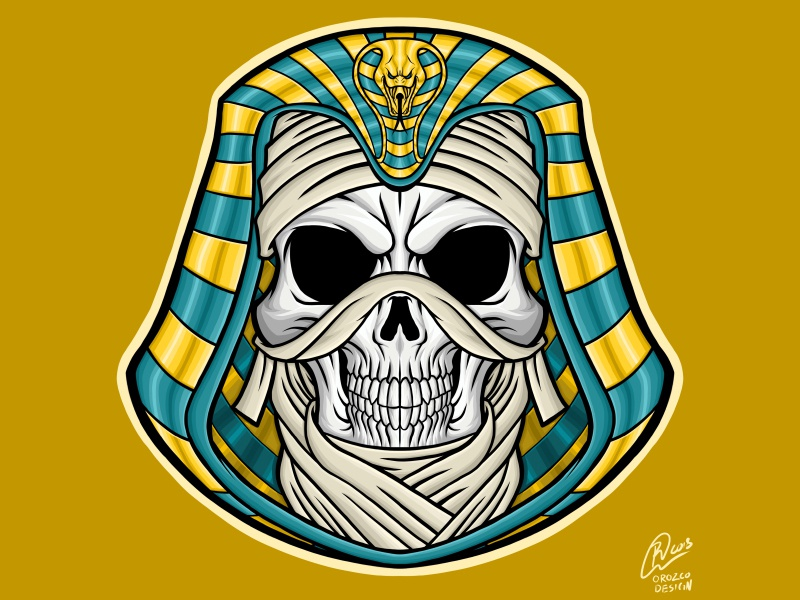 Assassins Creed Skull Mummy video games assassins creed ubisoft stickers mummy logo logos apparel art illustrator illustration