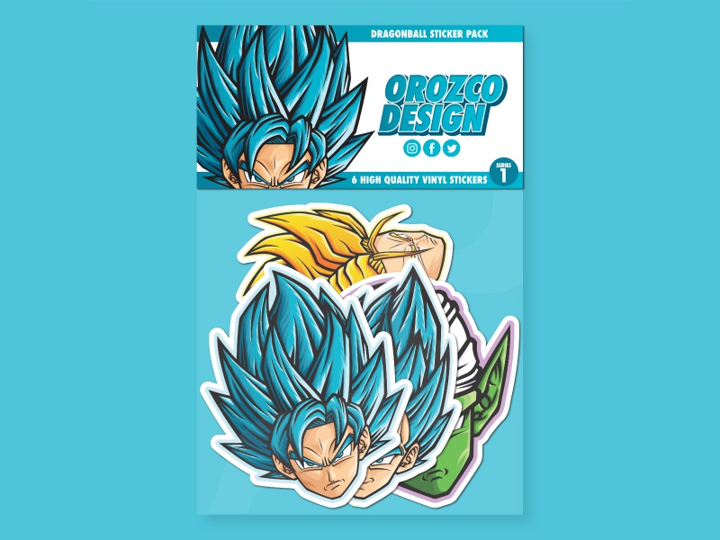 Dragon Ball Sticker Pack Series 1 dragonballz product sticker design sticker medicom pop art piccolo trunks vegeta goku merchandise vector art manga stickers anime art design vector illustrator illustration