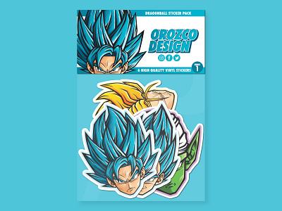 Dragon Ball Sticker Pack Series 1 dragonballz product sticker design sticker medicom pop art piccolo trunks vegeta goku merchandise vector art manga stickers anime art design vector illustrator illustration