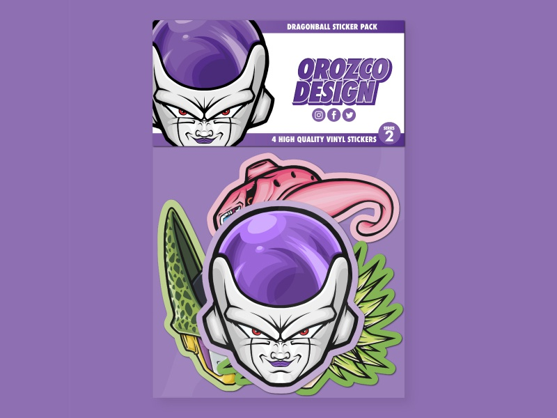 Dragon Ball Sticker Pack Series 2 dragonball majin buu sticker design dbz pop art medicom frieza stickermule sticker dragonballz merchandise vector art manga stickers anime art design vector illustrator illustration