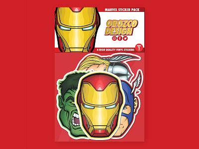 Marvel Sticker Pack Series 1 vector art vector illustration merchandise comic book avengers thor hulk captain america ironman marvel stickerapp sticker design sticker stickers product art design vector illustrator illustration
