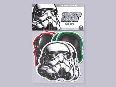 Star Wars Sticker Pack Series 1 vector illustration movie art medicom popart storm trooper darth vader stormtrooper star wars sticker design sticker stickers art design vector illustrator illustration