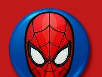 Spiderman button mock 2