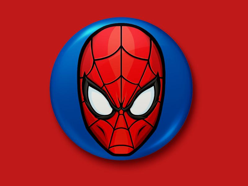 Spider-Man Button avengers pop culture pop art medicom marvel comic book merchandise buttons button spider-man spiderman product apparel art design vector illustrator illustration