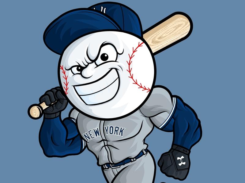 MLB Yankee Slugger x Under Armour figure medicom americana mascot character mascot design mascot under armour yankees yankee mlb logos product apparel art illustrator illustration