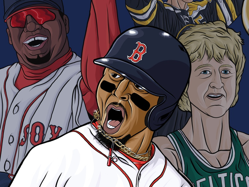 MLB Red Sox World Series Champs procreate digital art medicom sports teams boston artist art social media design baseball hat americana sports design sports red sox baseball mlb illustrator illustration