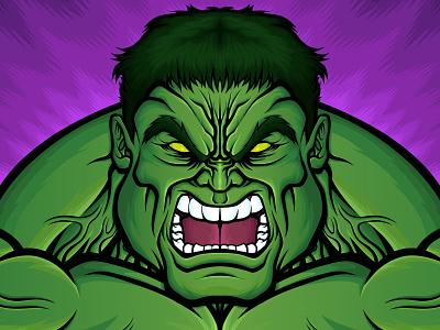 Smash Cast Podcast Cover podcast art podcast marvel comics marvel hulk design art vector illustrator illustration