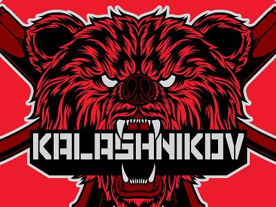 Kalashnikov USA Graphics sheet. merch russian merchandise vector art product apparel design art vector illustrator illustration