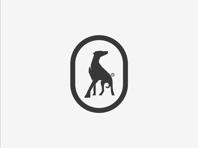 Dobermann icon branding design process vector golden ratio gradient illustration logo illustrator