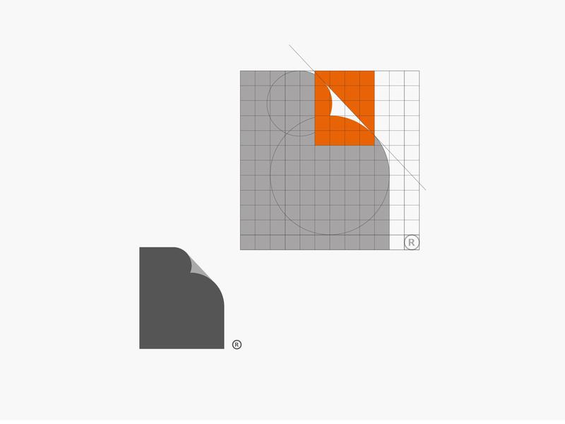 B +  Paper branding vector process golden ratio logo illustration icon illustrator
