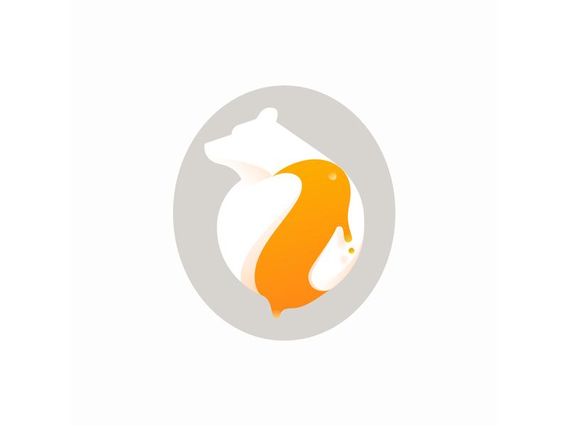 Bear honey honey bear vector design branding golden ratio gradient illustration icon logo illustrator