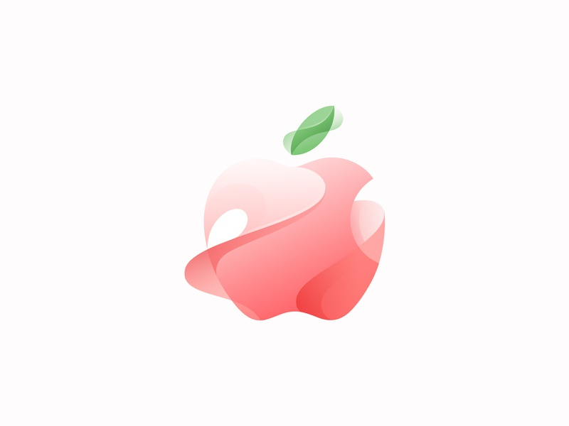 apple branding vector gradient illustration icon logo illustrator