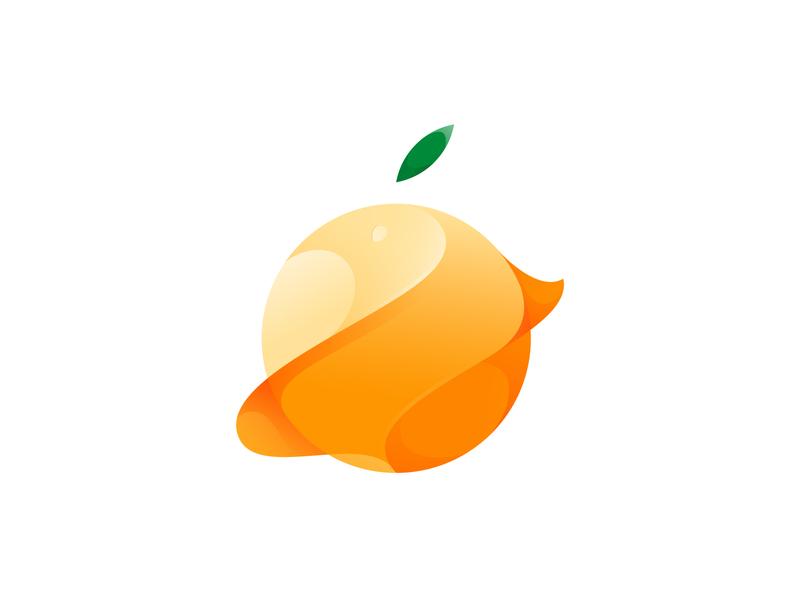 orange fruits orange app design vector illustration branding gradient logo illustrator