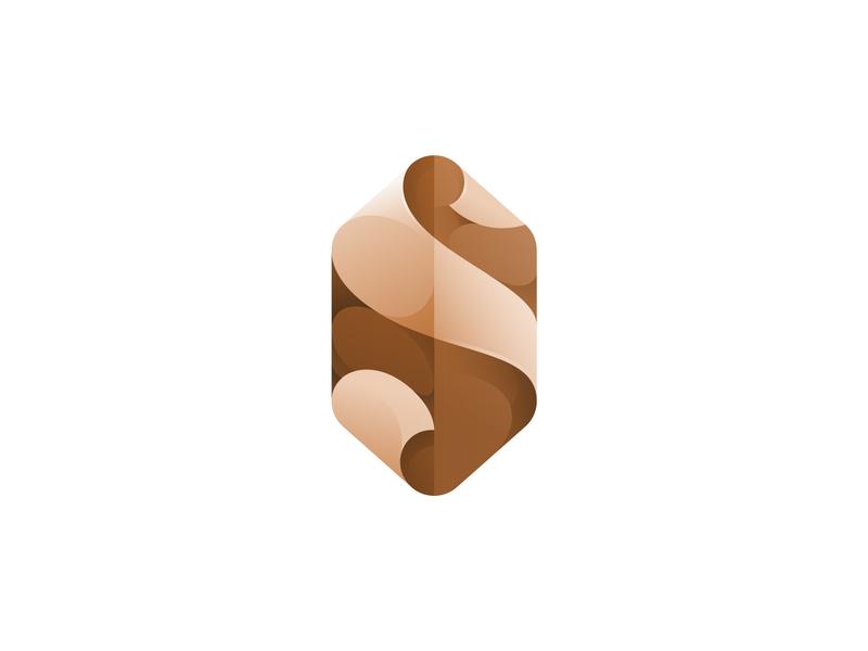 s for stone stone s design vector gradient illustration icon logo illustrator
