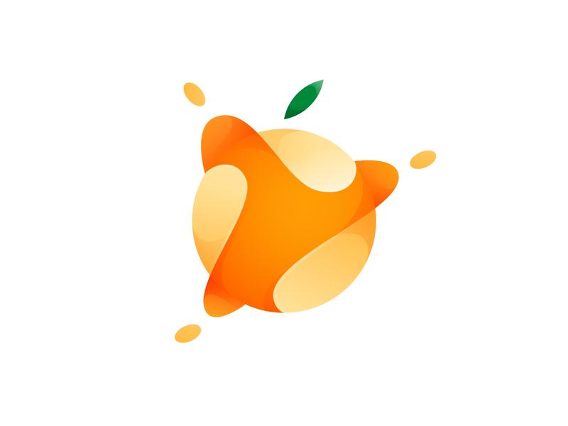 orange fruits orange app branding vector gradient illustration logo icon illustrator