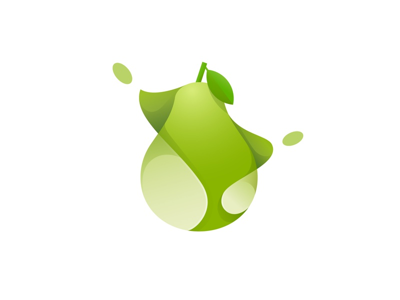 pear pear fruits branding design vector gradient illustration icon logo illustrator